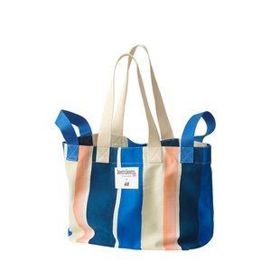Lemlem X H&M Bag Blue Pink White Stripe Beach Tote